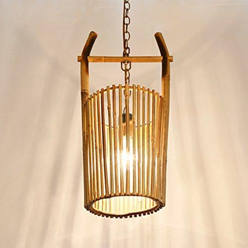 WWWWW Kroonluchter Light Shades kristal plafondlamp – Z-025 Original Eco restaurant bamboe pastoral café inn creatieve kroonluchter van bamboe, ideaal voor woonruimtes en plafonnière