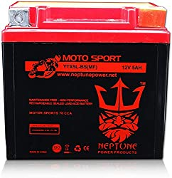 Yamaha YTX5L-BS Polaris Kawasaki YT5L-BS GT5L 4011181 Replacement Battery 80cca High Performance WP5L-BS Sealed AGM for Honda Arctic Cat Suzuki Motorcycle Quad YTX5L GTX5L ATV GTX5L-BS Scooter KTM YT5L E-Ton Kymco GT5L-BS