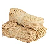 TAZEMAT 3 pcs Natural Rafia para Envolver Regalos Cuerda de Rafia Seca Rellenar Embalaje C...