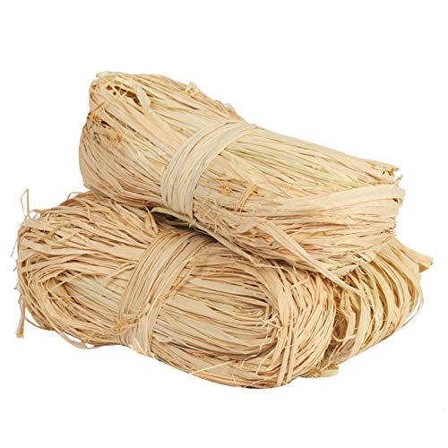 TAZEMAT 3 pcs Natural Rafia para Envolver Regalos Cuerda de Rafia Seca...