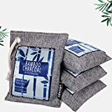 Bamboo Charcoal Air Purifying Bags Breathe Green Activated Charcoal Bag Odor Absorber Nature Fresh Room Deodorizer Bags for Home 4 Pack