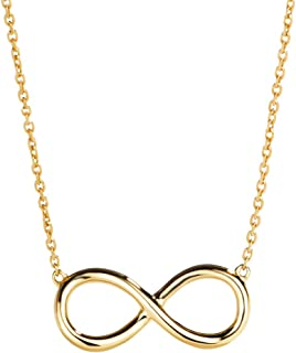 Best 14k yellow gold infinity necklace Reviews