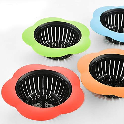Syeytx Ablaufgummi-Stopfenabdeckung Filterspüle Siebkorb Silikonbad Küche Abfluss Schmutz Filte Dusche Verwendung * 1