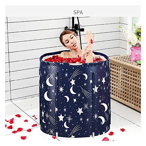 ZL Faltbare Aufblasbare Dicke Warme Erwachsene Badewanne, Spa-Badewanne, Kinder Aufblasbare Pool, Mit Nackenkissen Und Luftpumpe,70 * 65cm