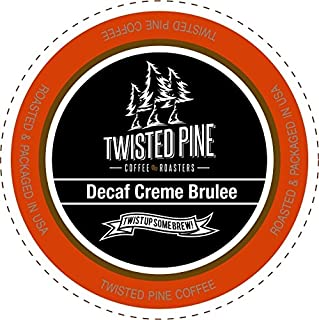 Twisted Pine Coffee Decaf Crème Brulee, Flavored Decaf Coffee, Single-Serve Cups for Keurig K-Cup Brewers, 12 Count