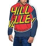 Hill Valley Hoverboards Back to The Future Sweat à Capuche et Poches en Velours pour Homme - Noir - S
