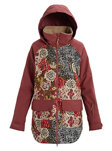 Burton Damen Prowess Snowboard Jacke, Cheetah Floral/Rose Brown, XL