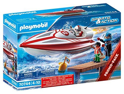 Playmobil Sports & Action 70744 Speedboot Lancha rápida con Motor Sumergible, a Partir de 4 años