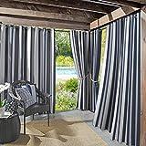 Sun Zero 53088 Valencia UV Protectant Indoor Outdoor Curtain Panel, 54' x 95', Navy Blue