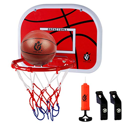Dreamon Kids Basketball Hoop and Backboard Set,Wall Mounted with Net Ball and...