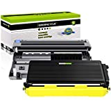 (1 Drum + 1 Toner) GREENCYCLE High Yield Black Toner Cartridges & Drum Drum Unit Set Compatible for Brother TN550 TN580 DR520 use with DCP-8060 DCP-8065DN HL-5240 HL-5250 MFC-8870WN