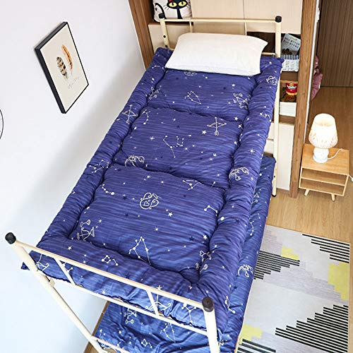 KKCD Futon Mattress Foldable,Mattress Floor Sleeping,Thicken Tatami Floor Mat,Kids Sleeping Pad,Floor Lounger Bed Couches,Roll Up Boys Girls Dormitory Mattress,F,120x200cm(47 * 79inch)