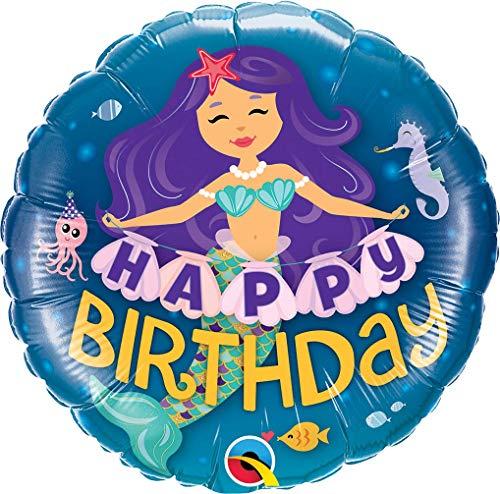 Qualatex Q57799 Alles goed voor verjaardag zeemeermin 18 Qualatex folie ballon