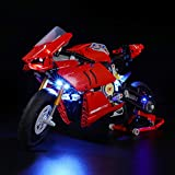 Lightailing Light Set for (Technic Ducati Panigale V4 R) Building Blocks Model - Led Light kit Compatible with Lego 42107(NOT Includ
