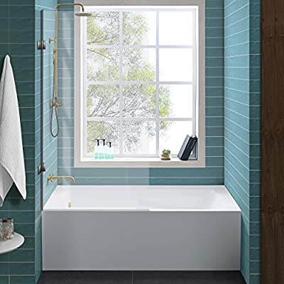 """Swiss Madison Well Made Forever SM-AB542 Voltaire Alcove Tub, 60"""" x 32"""", Glossy White"""