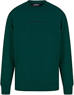 Diesel S-Biay-Copy Sweatshirt in Brazil Green Large