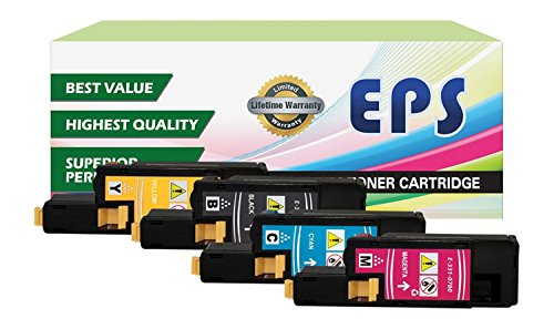 EPS Replacement Dell 1250c 1350cnw 1355cn High Yield Black Toner Cartridges - 4 pk ( BCMY )