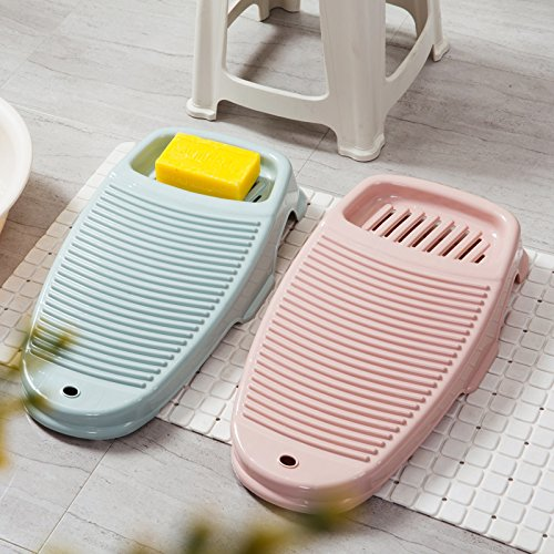 Little Less Thickened rubbing Board Small Laundry Anti-Skid Laundry Board Household Laundry Tub Plastic Laundry Washboard Blue