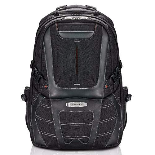 "Everki Concept 2 - Premium mochila para portátiles de hasta 17"" con sistema patentado de protección de esquinas, solapa para trolley, compartimento de protección RFID, compartimento rígido para gafas"