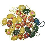 YYOJ, 24 uova di Pasqua da appendere, in plastica, set COCOMIA Phoenix Futon, per case e giardini