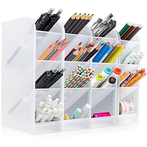 4Pcs lapiceros para escritorio,Organizador de escritorio,compartimentos Soporte para bolígrafo,Soporte para bolígrafo de Escritorio,Portalápices Multifuncional,Organizador de Pluma (A) (A-grande1)