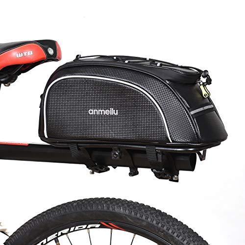 Lixada Bolsa Trasera para Bicicleta Multifuncional Bolsa de Asiento Trasero Bolsa de Hombro para Ciclismo al Aire Libre (PU(34 * 18 * 15 cm))
