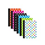 BAZIC 80 Ct. 5' x 7' Polka Dot Poly Cover Personal Composition Book, Case of 48 (5471-48)
