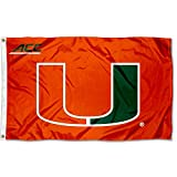College Flags & Banners Co. University of Miami Hurricanes Acc 3x5 Flag