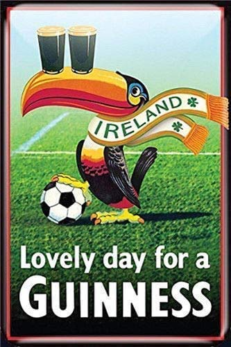 Vintage Style Ireland Lovely Day for a Guinness Home Wall Decor Metal Tin Sign for Home Kitchen Bar Club Pub Restaurant 12x8inch