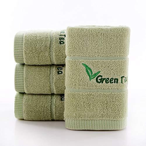 xkmyt Einfache Jacquard Streifen Einfarbig Waschlappen Schulreisen Camping Tragbares Gesicht Handtuch Gym Yoga Supermarkt Werbeartikel Toallas 35X76Cm Grün