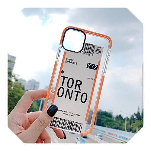 Schattig Licht Ticket Vliegtuig Telefoonhoesje Voor Iphone 11 Pro Xs Max Xr X 8 7 6S 6Plus Clear Boarding Board Soft Tpu Back Cover Fundas, for iphone 7 8 plus, 3