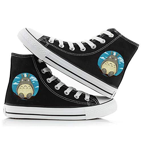 SevenLeo Zapatillas Hombre Zapatos Hombre Zapatillas Mujer Bambas Mujer Unisex Zapatillas Lona Zapatos Casuales Zapatos De Niño Niña Zapatos Totoro Anime Shoes 41