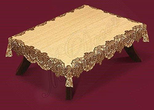 Fancy Lace Nappe Marron foncé/brun roux rectangulaire 180 x 130 (cm) 180,3 x 129,5 cm) pour la fête cadeau/cadeau