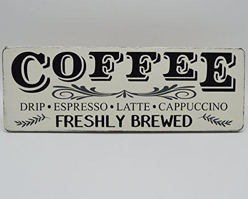 Norma Lily Kaffee Kaffee Holz Schild Kaffee Bar Frisch gebrühten Rustikal Holz Schild Fixer Oberen Style Farmhouse Küche Decor Farmhouse Wand Decor