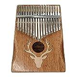 entweg 17 chiavi di kalimba, 17 chiavi di alce di kalimba thumb piano strumento musicale portatile tipo di acero alce sognante
