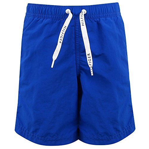 Tommy Hilfiger Boy's Medium Drawstring Swim Shorts, Blue (Lapis Blue 935), 128 (Manufacturer size: 8-10)