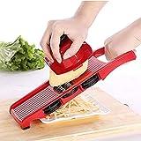 Messer Gemüseschneider mit Klinge Edelstahl Handschäler Kartoffel Karottenreibe Käse Küche Werkzeug Dicer