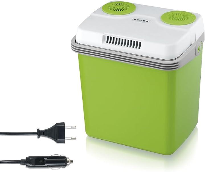 Frigorifero portatile, termoelettrico, verde pastello/grigio [classe di efficienza energetica a++]  severin 2922-000