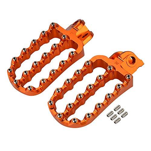 690 790 950 990 1090 1190 1290 / Fit For -Adventure Supermoto Super ADV R T Enduro S-M-C S-M-R/Peg PEGS Footpegs Rests Pedales (Color : Orange)