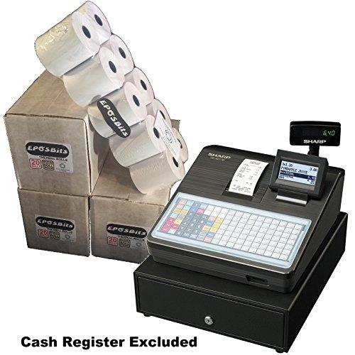 eposbits® Marke Rollen zu für Sharp xe-a217b xea-217b xea217b xea217xe-a217xea-217B Cash Register?60Rollen