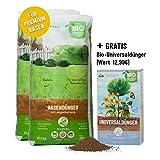 Plantura Bio-Rasendünger 2er Set je 10,5kg mit 3 Monate Langzeit-Wirkung, ideal im Frühjahr und Sommer, Dünger gegen Moos, staubarmes Granulat, unbedenklich für Haustiere