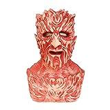XWYZY Máscara de Halloween Scary the Demon Máscara de látex para Halloween Cosplay Props Talla única