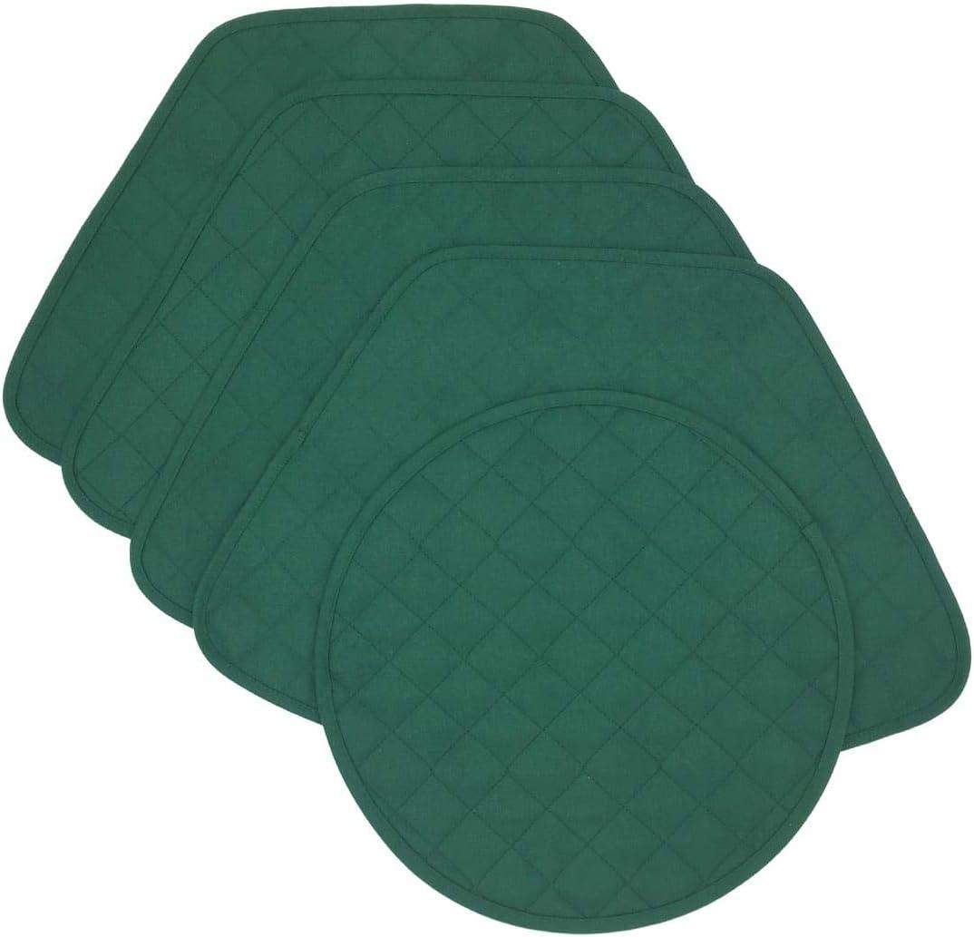 着後レビューで 送料無料 Sweet Pea Linens Solid Green 商舗 Place Wedge-Shaped Quilted Jacquard