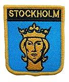 1000 Flaggen Stockholm Schweden Schild bestickt Patch Badge