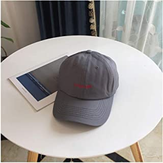 Hats Fashion Casual Embroidery Letter Hat Men and Women Outdoor Visor Cap Korean Version of The Summer Student Baseball Cap Fashion (Color : Grey, Size : F)