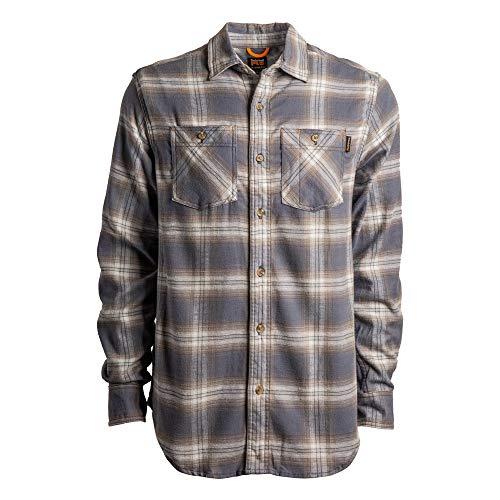 Timberland PRO Herren Woodfort Flex Flannel Shirt (Big/Tall) Work Utility Hemd, Vintage Indigo Plaid, Large Hoch