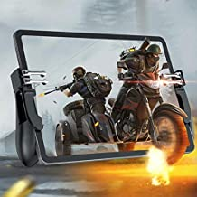 Tablets Game Controller for PUBG Mobile, Six Finger Gamepad Auxiliary Grip Trigger Switches joystick for iPad Tablets