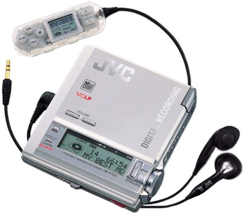 JVC XM-R 700 tragbarer MiniDisc-Rekorder Silber