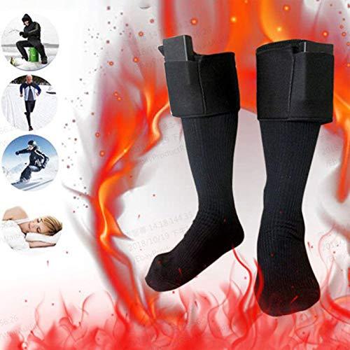 WANXJM Calcetines calefactables, Calcetines calefactores eléctricos para Calcetines Calientes Recargables, para Deportes al Aire Libre - Camping Pesca Ciclismo Motociclismo Esquí