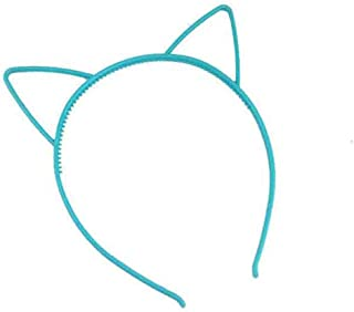 kids black cat ears head bands Lady Girl Hairband Baby birthday party Hair Accessories for Women,Sky blue